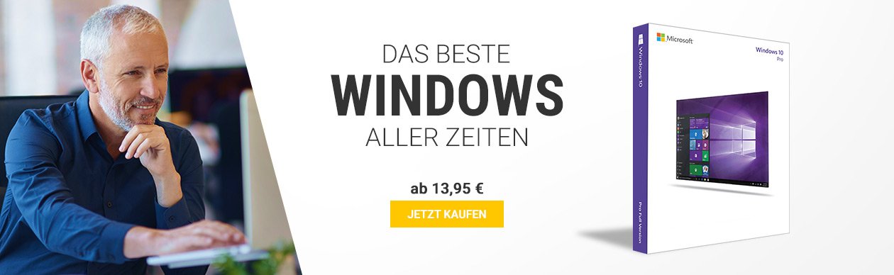 Windows 10 Professional nur 14,39€