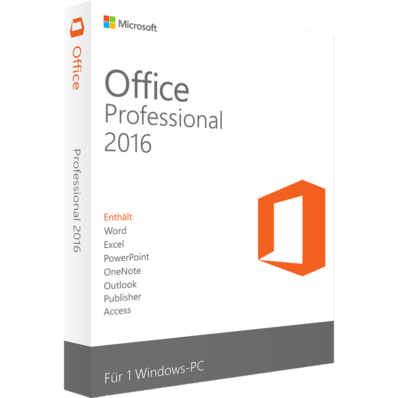 Microsoft Office 2016 Professional | für Windows