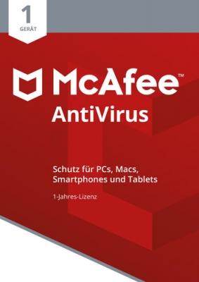 McAfee Antivirus 2021 / 1 Jahr 1 Gerät